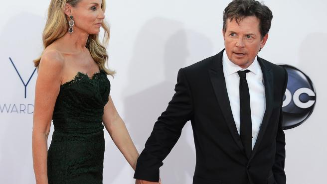 Michael J. Fox y su esposa, Tracy Pollan.
